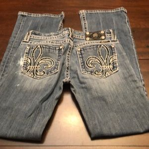 Miss Me boot cut jeans.  Size 29. Inseam 32.